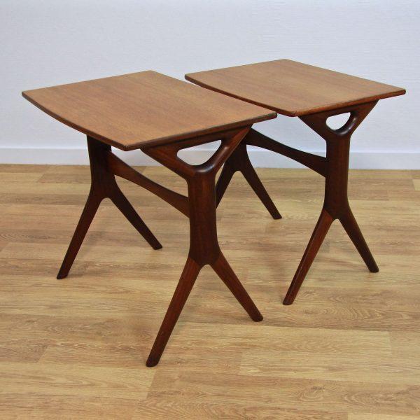 Art.nr 1347 2 Danish Nesting Tables By Johannes Andersen