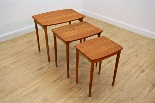 Art.nr 1376 Danish Nesting Tables In Teak And Oak, 1960s